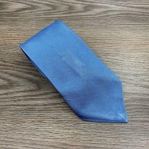J. Crew Solid Blue Silk Tie